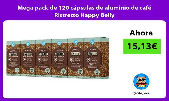 Mega pack de 120 cápsulas de aluminio de café Ristretto Happy Belly