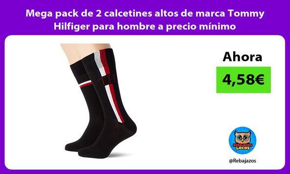 Mega pack de 2 calcetines altos de marca Tommy Hilfiger para hombre a precio mínimo