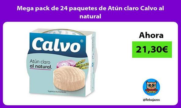 Mega pack de 24 paquetes de Atún claro Calvo al natural