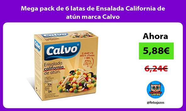 Mega pack de 6 latas de Ensalada California de atún marca Calvo