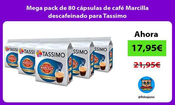 Mega pack de 80 cápsulas de café Marcilla descafeinado para Tassimo