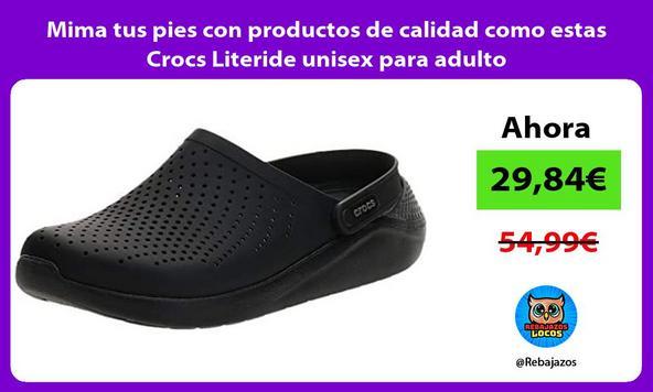 Mima tus pies con productos de calidad como estas Crocs Literide unisex para adulto