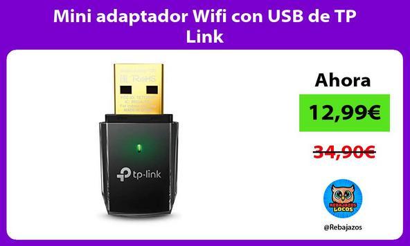 Mini adaptador Wifi con USB de TP Link