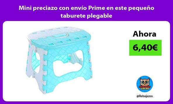 Mini preciazo con envío Prime en este pequeño taburete plegable