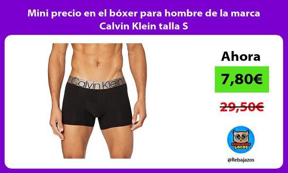 Mini precio en el bóxer para hombre de la marca Calvin Klein talla S
