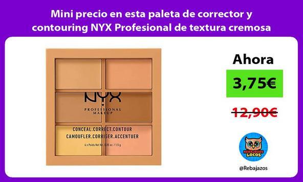 Mini precio en esta paleta de corrector y contouring NYX Profesional de textura cremosa