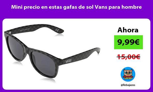 Mini precio en estas gafas de sol Vans para hombre