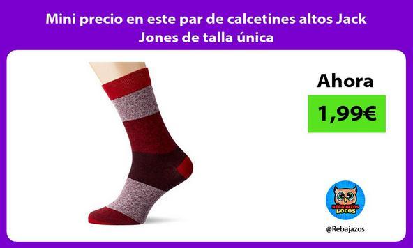Mini precio en este par de calcetines altos Jack Jones de talla única
