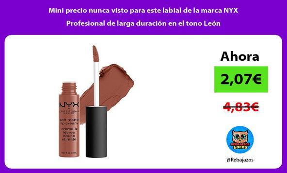 Mini precio nunca visto para este labial de la marca NYX Profesional de larga duración en el tono León