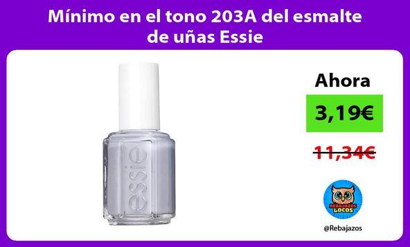 Mínimo en el tono 203A del esmalte de uñas Essie