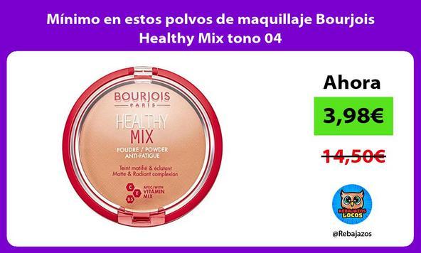 Mínimo en estos polvos de maquillaje Bourjois Healthy Mix tono 04