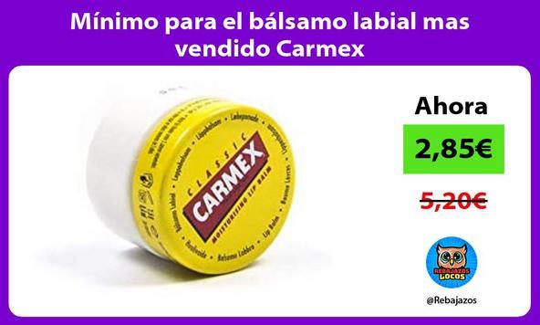 Mínimo para el bálsamo labial mas vendido Carmex