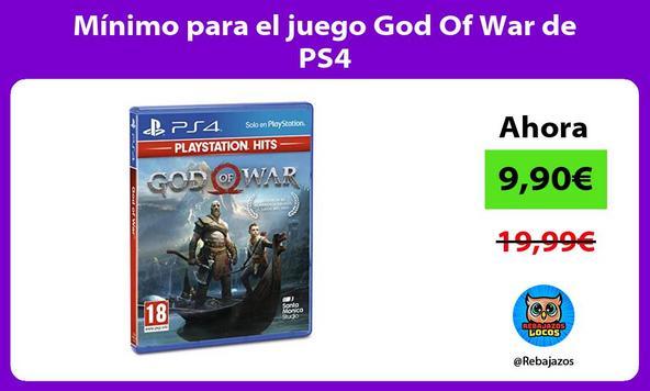 Mínimo para el juego God Of War de PS4