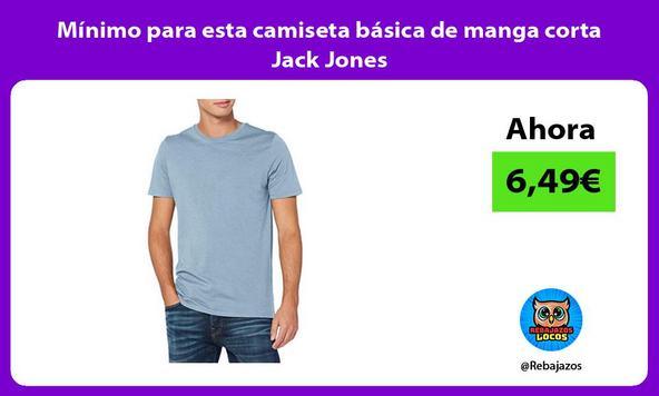 Mínimo para esta camiseta básica de manga corta Jack Jones