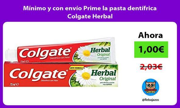 Mínimo y con envío Prime la pasta dentífrica Colgate Herbal
