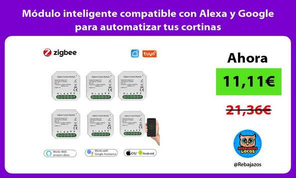 Módulo inteligente compatible con Alexa y Google para automatizar tus cortinas