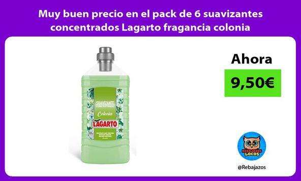Muy buen precio en el pack de 6 suavizantes concentrados Lagarto fragancia colonia
