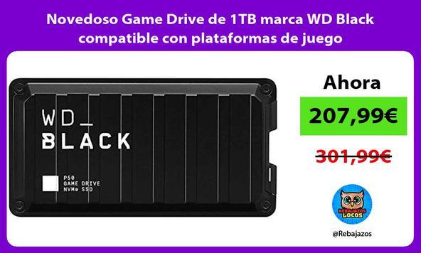 Novedoso Game Drive de 1TB marca WD Black compatible con plataformas de juego