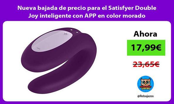 Nueva bajada de precio para el Satisfyer Double Joy inteligente con APP en color morado