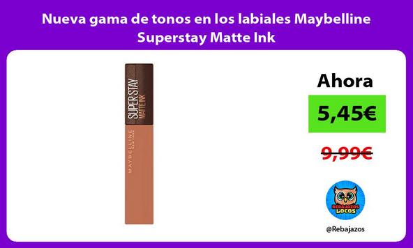 Nueva gama de tonos en los labiales Maybelline Superstay Matte Ink