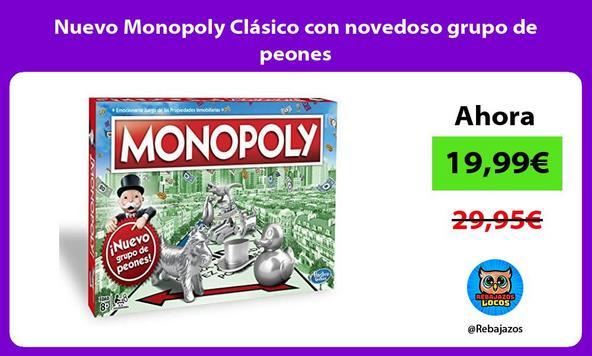 Nuevo Monopoly Clásico con novedoso grupo de peones