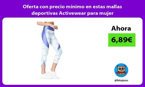 Oferta con precio mínimo en estas mallas deportivas Activewear para mujer