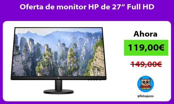 """Oferta de monitor HP de 27"""" Full HD"""