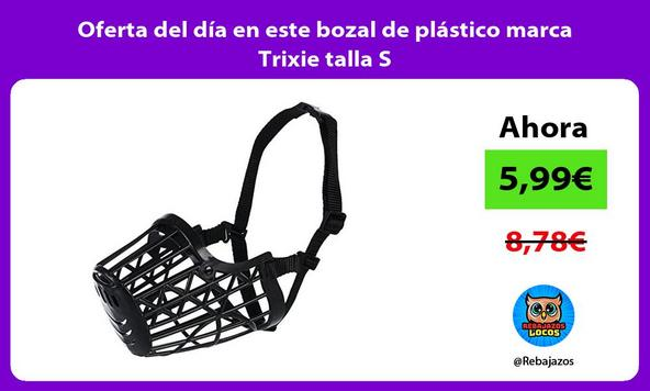 Oferta del día en este bozal de plástico marca Trixie talla S