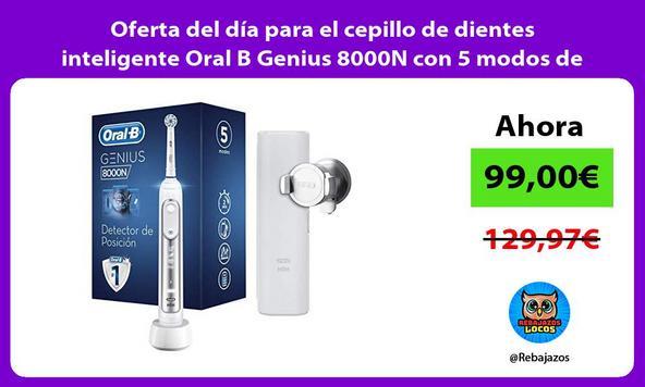 Oferta del día para el cepillo de dientes inteligente Oral B Genius 8000N con 5 modos de blanqueado