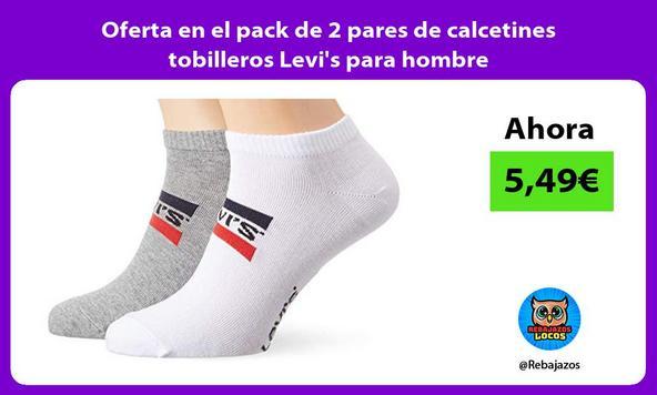 Oferta en el pack de 2 pares de calcetines tobilleros Levi's para hombre