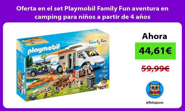 Oferta en el set Playmobil Family Fun aventura en camping para niños a partir de 4 años