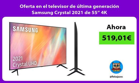 """Oferta en el televisor de última generación Samsung Crystal 2021 de 55"""" 4K"""
