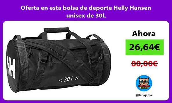 Oferta en esta bolsa de deporte Helly Hansen unisex de 30L