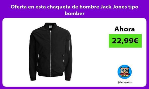 Oferta en esta chaqueta de hombre Jack Jones tipo bomber