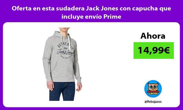 Oferta en esta sudadera Jack Jones con capucha que incluye envío Prime