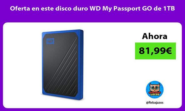 Oferta en este disco duro WD My Passport GO de 1TB