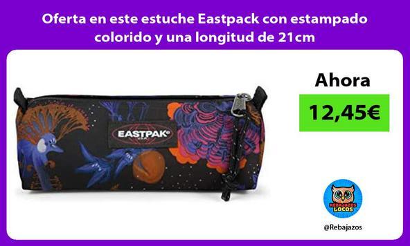 Oferta en este estuche Eastpack con estampado colorido y una longitud de 21cm