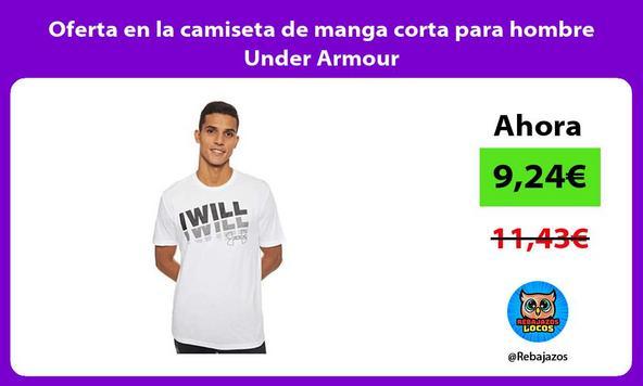 Oferta en la camiseta de manga corta para hombre Under Armour