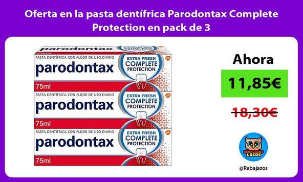 Oferta en la pasta dentífrica Parodontax Complete Protection en pack de 3