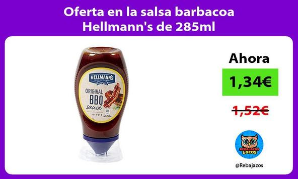 Oferta en la salsa barbacoa Hellmann's de 285ml