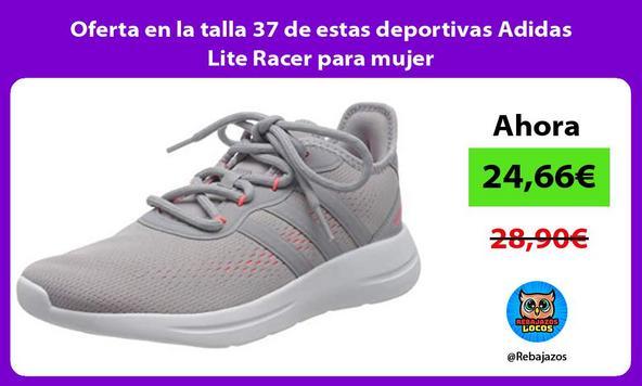 Oferta en la talla 37 de estas deportivas Adidas Lite Racer para mujer