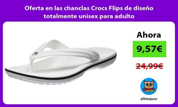 Oferta en las chanclas Crocs Flips de diseño totalmente unisex para adulto