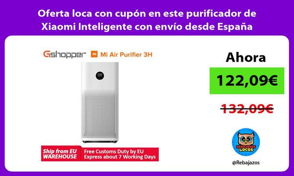 Oferta loca con cupón en este purificador de Xiaomi Inteligente con envío desde España