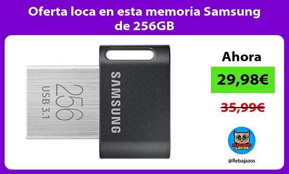 Oferta loca en esta memoria Samsung de 256GB