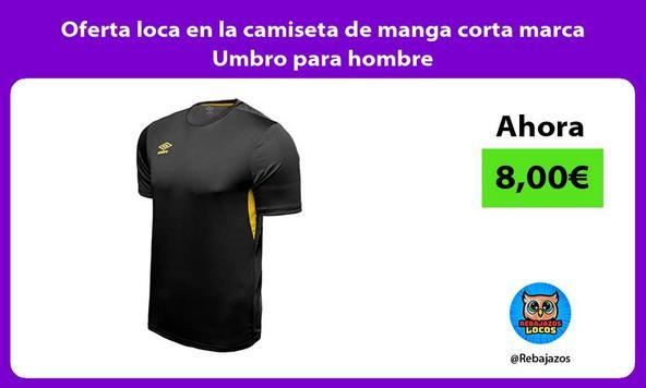 Oferta loca en la camiseta de manga corta marca Umbro para hombre
