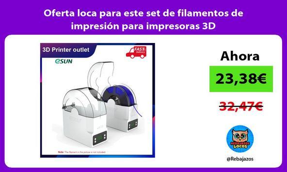 Oferta loca para este set de filamentos de impresión para impresoras 3D