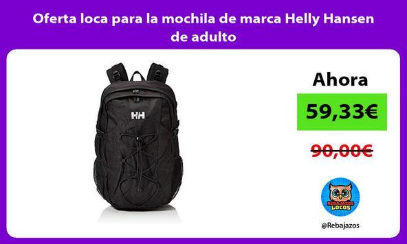 Oferta loca para la mochila de marca Helly Hansen de adulto