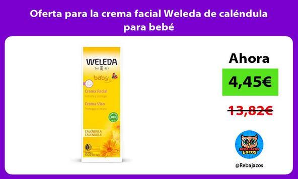 Oferta para la crema facial Weleda de caléndula para bebé