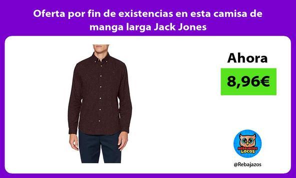 Oferta por fin de existencias en esta camisa de manga larga Jack Jones