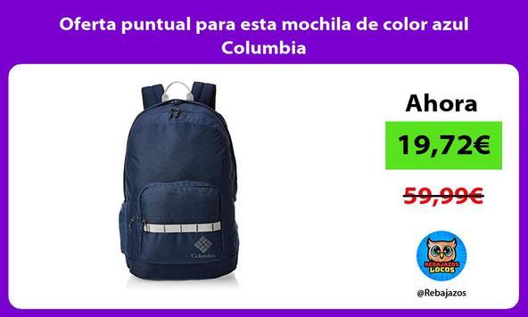 Oferta puntual para esta mochila de color azul Columbia